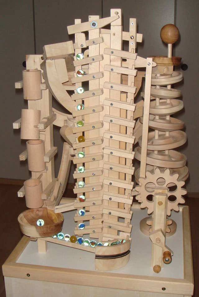 Seven amazing wooden marble machines