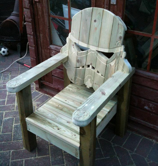 Stormtrooper Wooden Lawn Chair