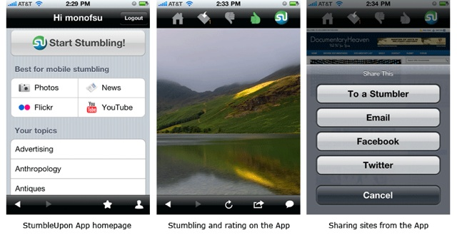 StumbleUpon iPhone & Android App