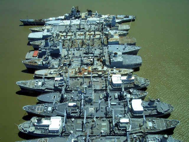 Photos of the Mothball Fleet in Suisun Bay
