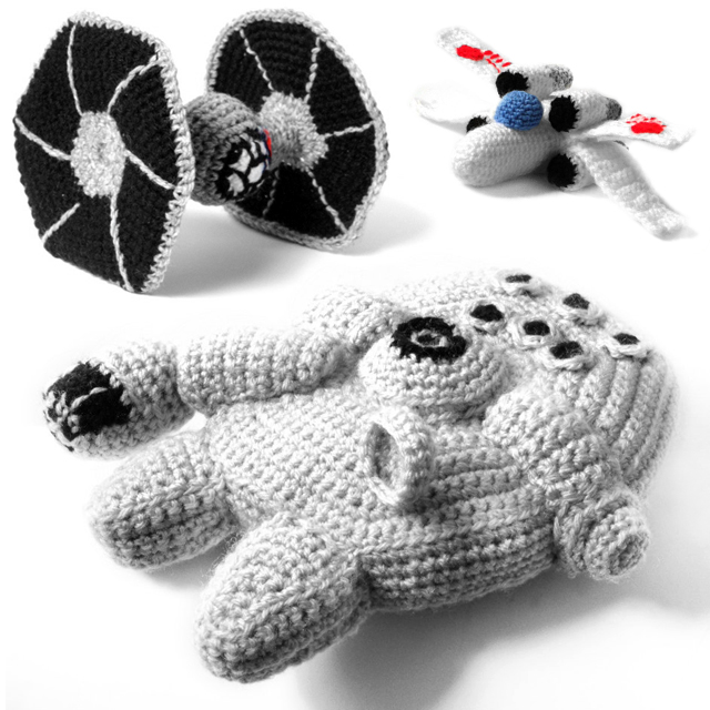 Star Wars Crochet - Ships - Amigurumi Patterns by Ana Yogui