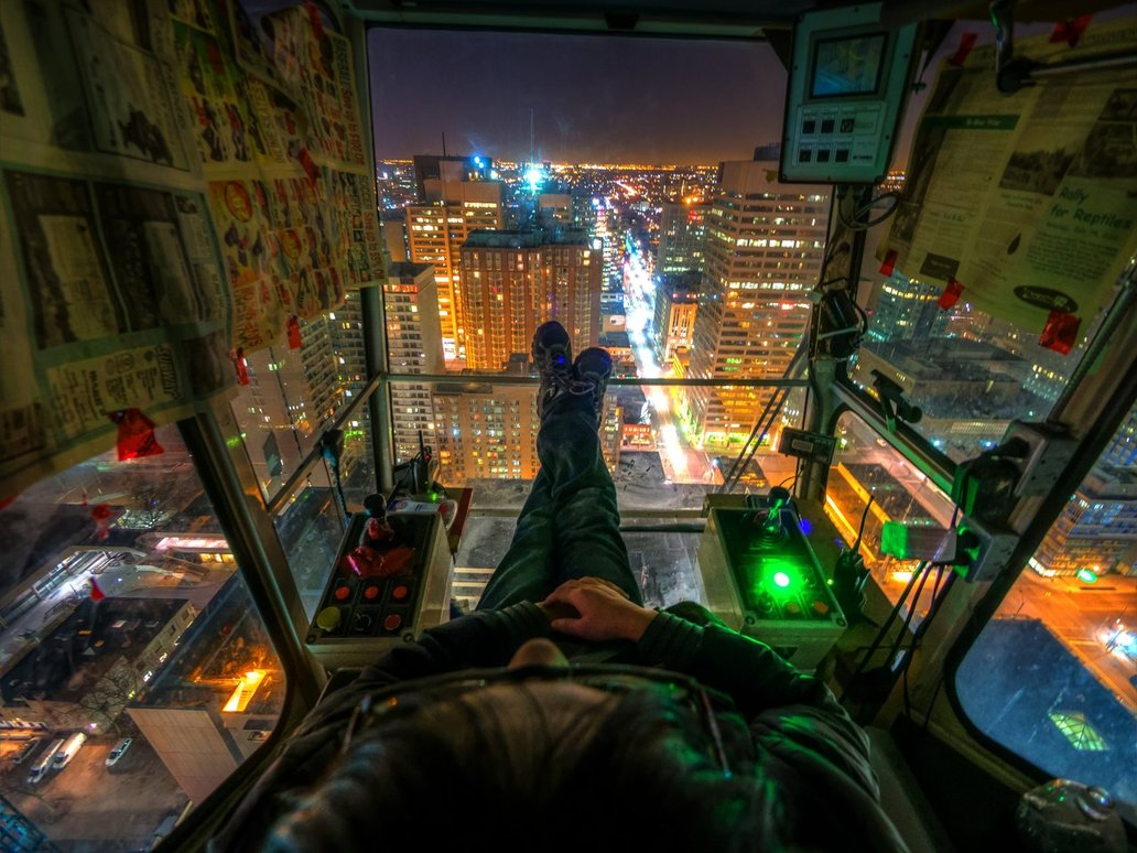 A Crane Operator S View Of Toronto At Night