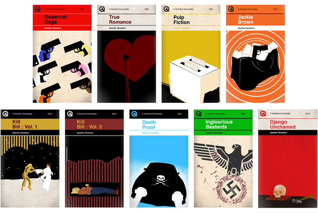Penguin Book Cover Questions : Quentin tarantino screenplays as classic penguin style