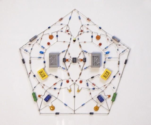 Technological mandala series by Leonardo Ulian