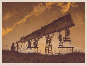 Telescope Art Print by DKNG Studios