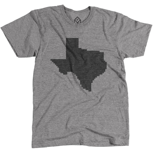 Pixelated Texas State Shirt by Pixelivery