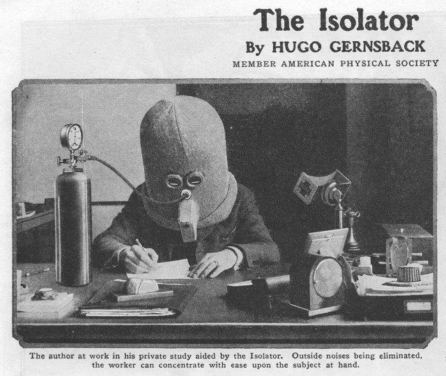 Hugo Gernsback Isolator advertisement