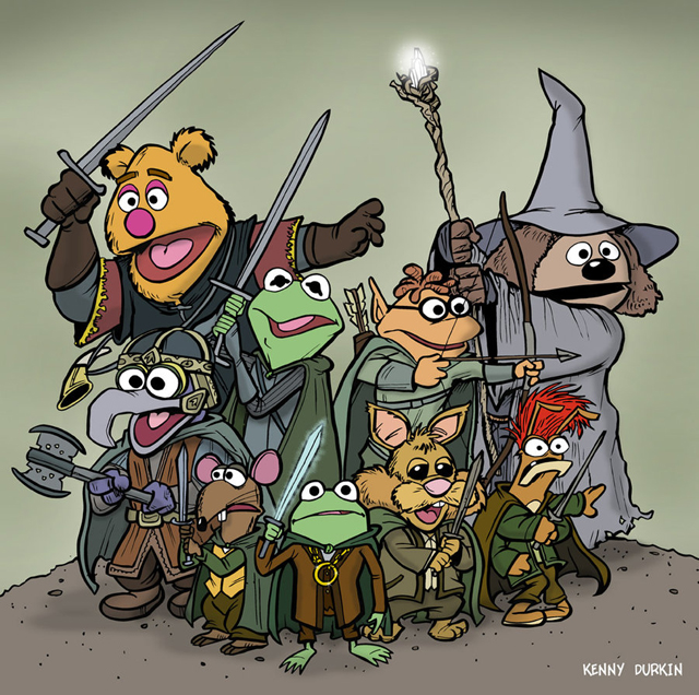 Harry Potter Muppets: The Muppets Illustrated As Popular Film & TV Show Characters