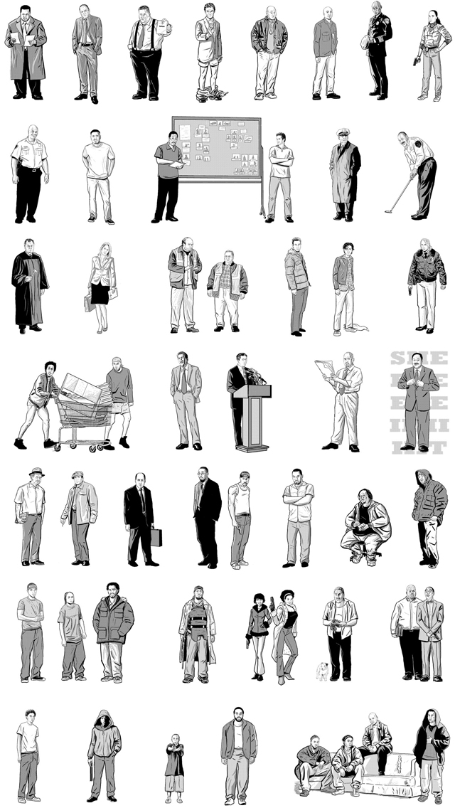 All In The Game, Poster Featuring 52 Characters From The Wire