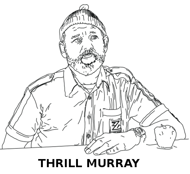 thrill murray a bill murray coloring book - Thrill Murray Coloring Book