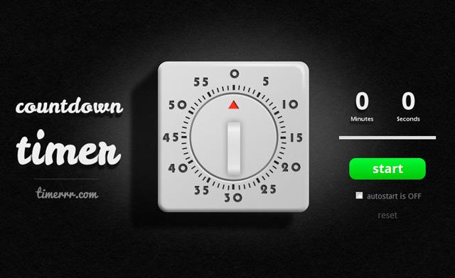 Timerrr An Online Countdown Timer