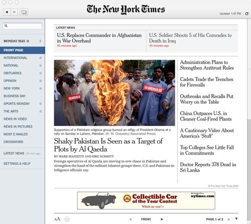 New York Times Reader 2.0
