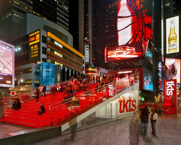 Red steps times square
