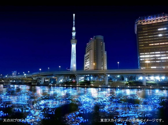 Tokyo Hotaru Festival 100,000 Floating Lights