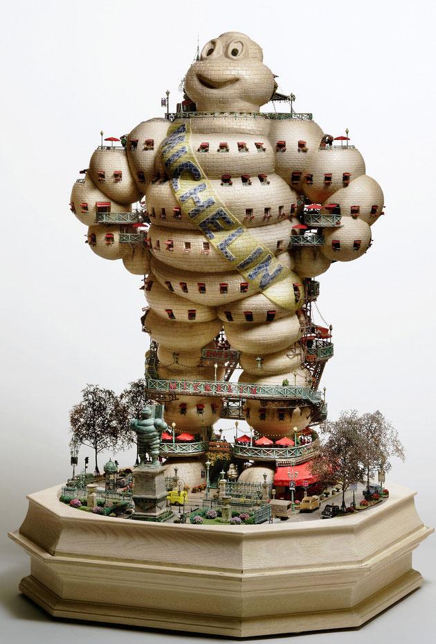 Bonsai building sculptures by Takanori Aiba