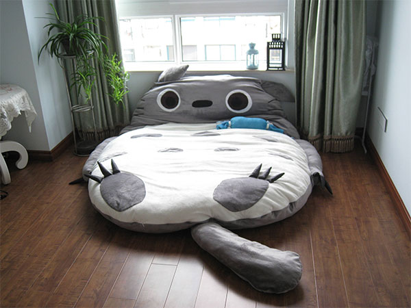 A Gigantic Totoro Sleeping Bag Bed