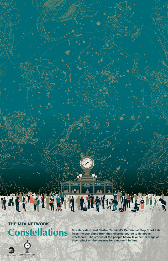 Constellations commemorative poster for the 100th for Constellation ceiling mural