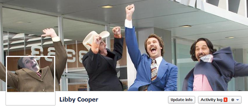Anchorman Facebook Cover by Libby Cooper