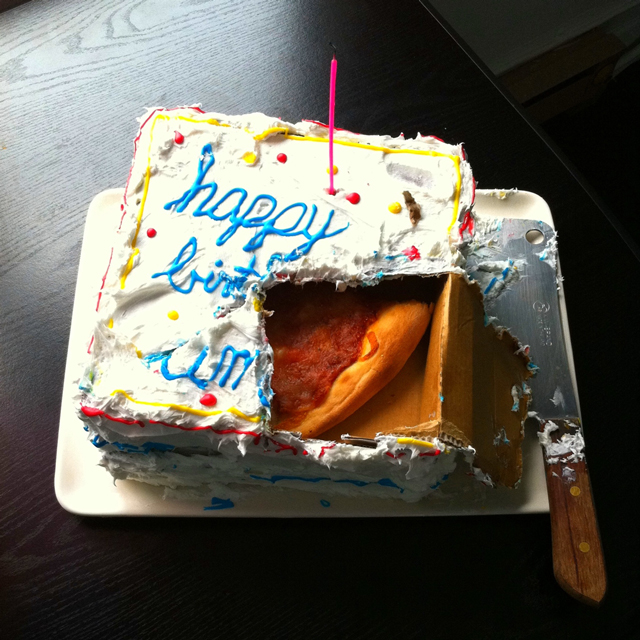 Trick Birthday Cake Has Pizza Hidden Inside