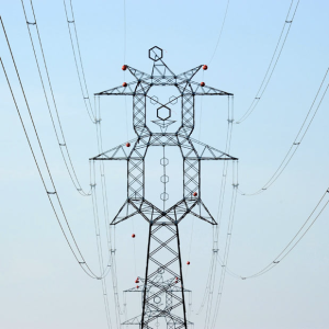 Clown-Shaped High Voltage Tower