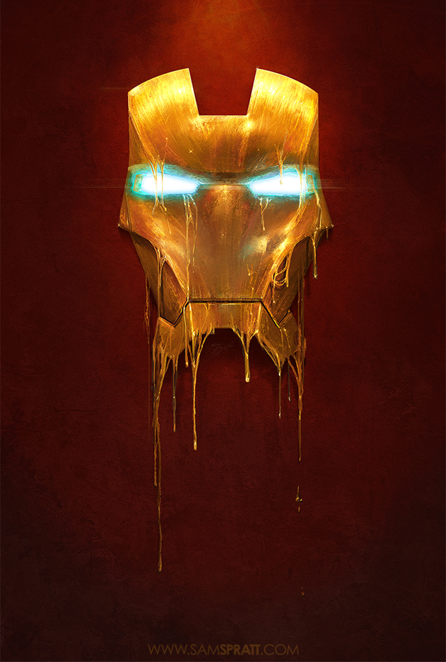 """Gilded"" - Iron Man Illustration by Sam Spratt"