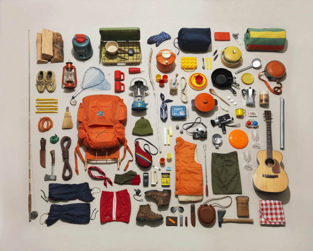 Photos of neatly arranged collections by Jim Golden