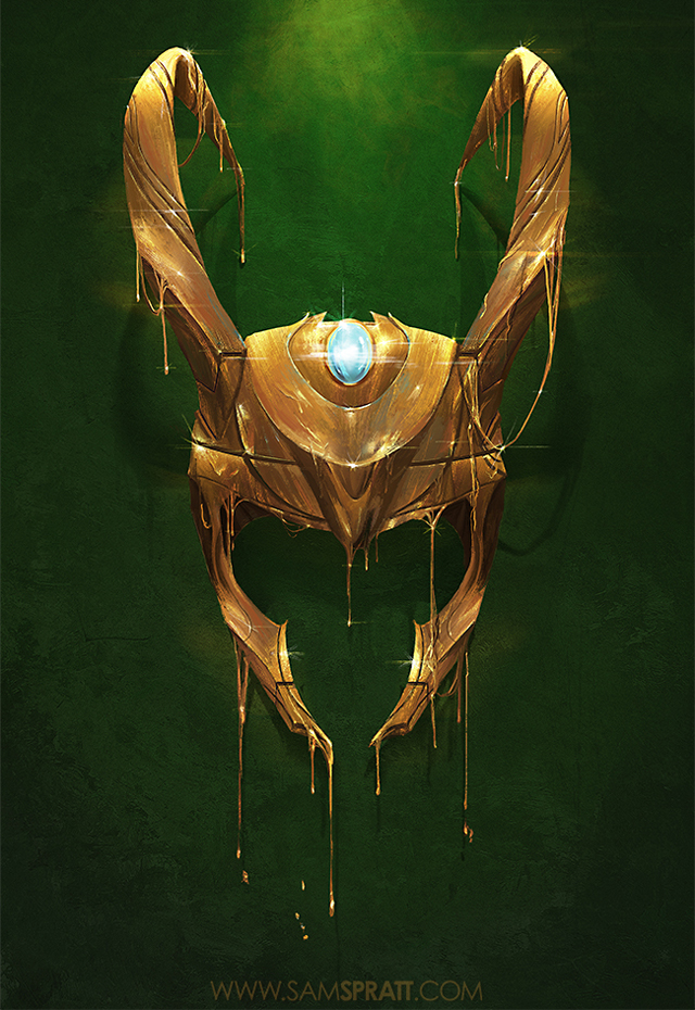 """Gilded II"" - Loki Illustration by Sam Spratt"