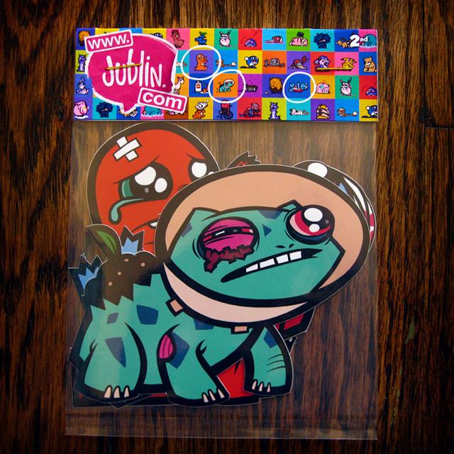 Injured Pokémon Starter Set Sticker Pack by Jublin
