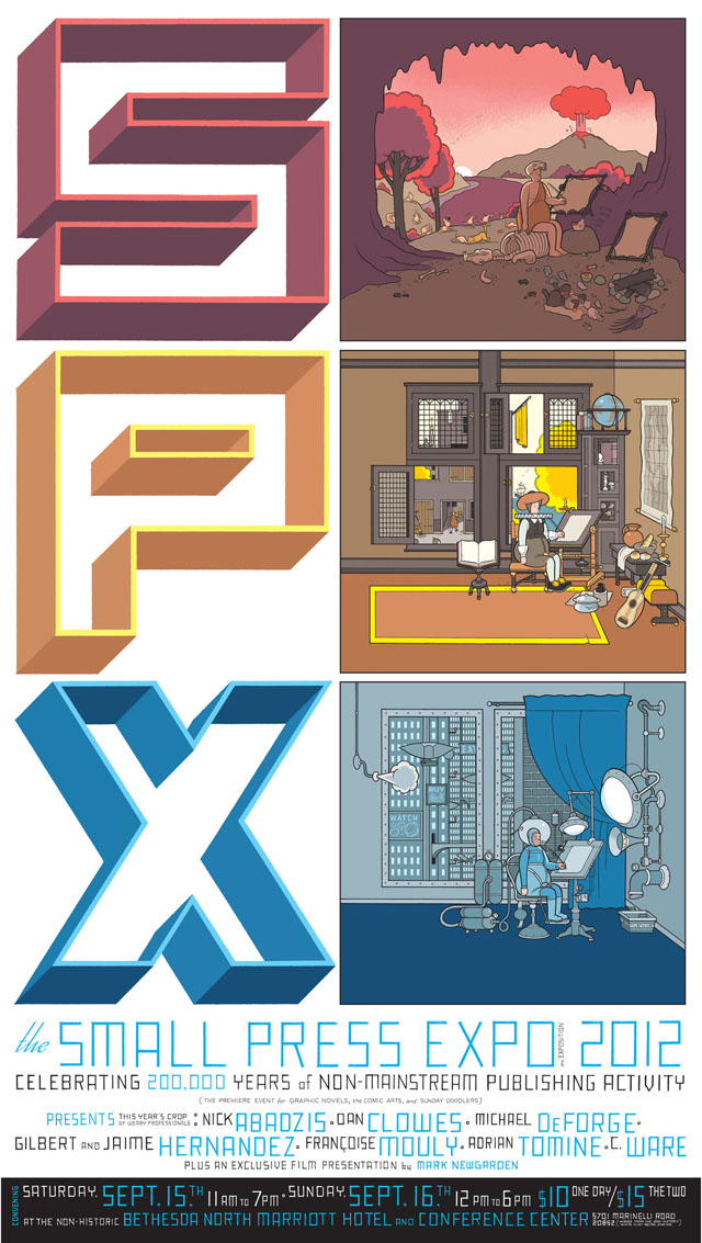 SPX 2012 Poster by Chris Ware