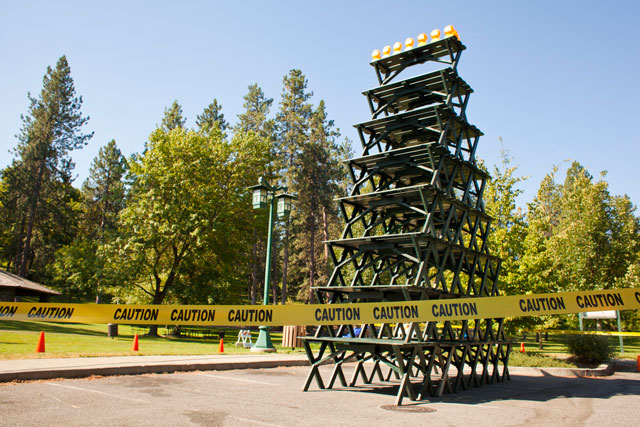 The Stacking Picnic Table Pyramid Pranks In Spokane