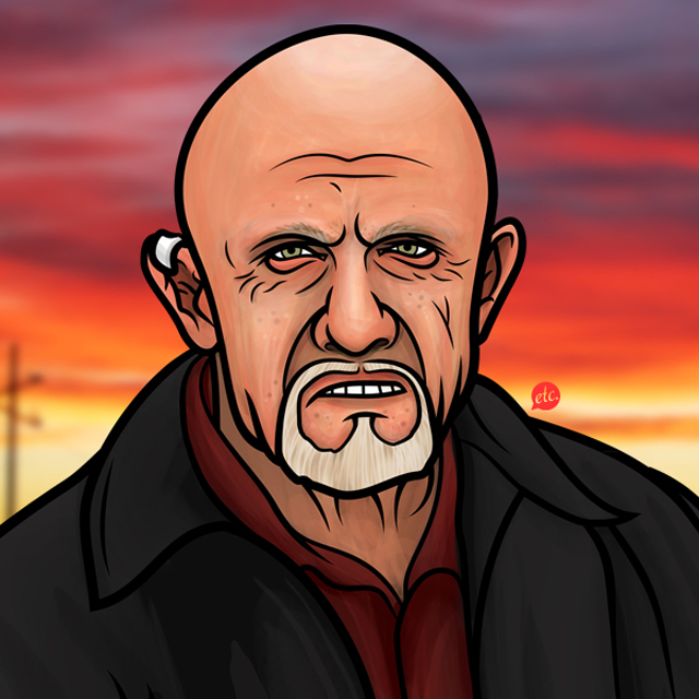 Mike Ehrmantraut by Jon Defreest