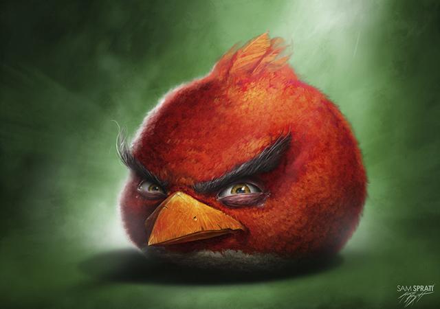 Angry Birds Artists Series Illustrations by Sam Spratt