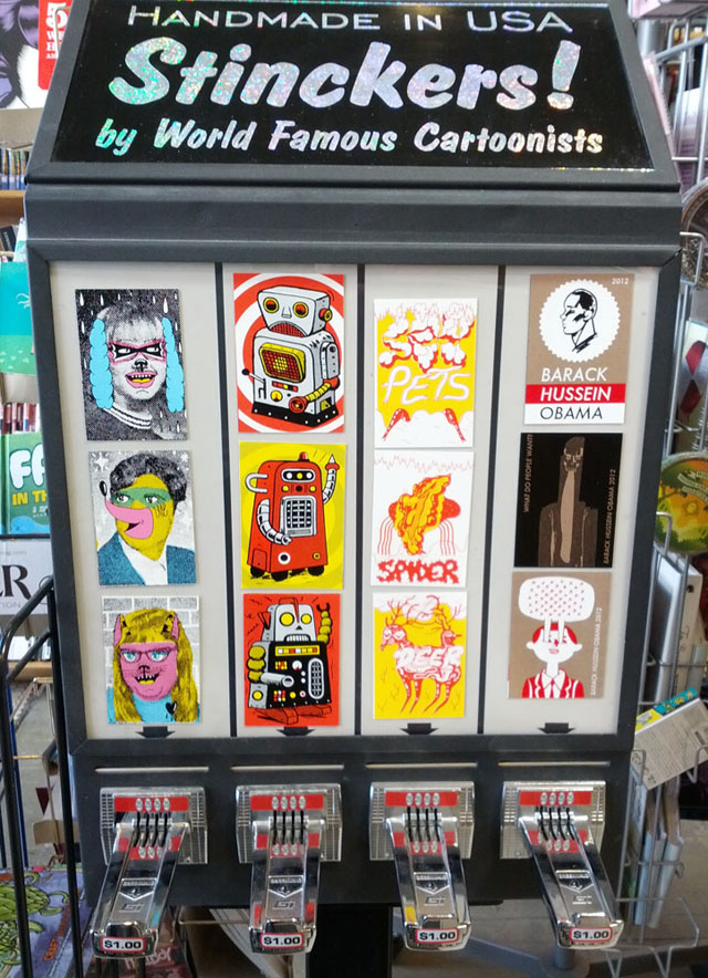 Big Brain Comics - Stinckers Coin-Operated Vending Machine