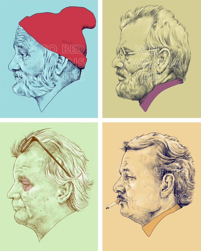 Bill Murray Portraits by Oliver Barrett