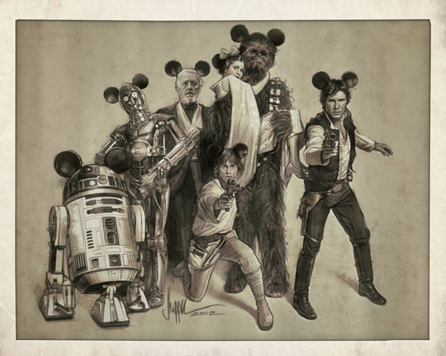 The Gang's All Here - Star Wars / Disney Variant by Paul Shipper