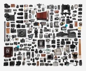 Neatly arranged photographic equipment