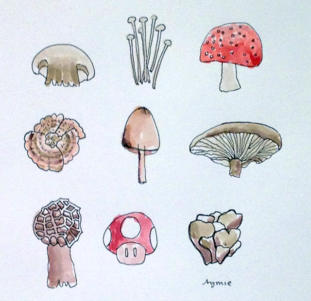 Mushrooms by Aymie Spitzer