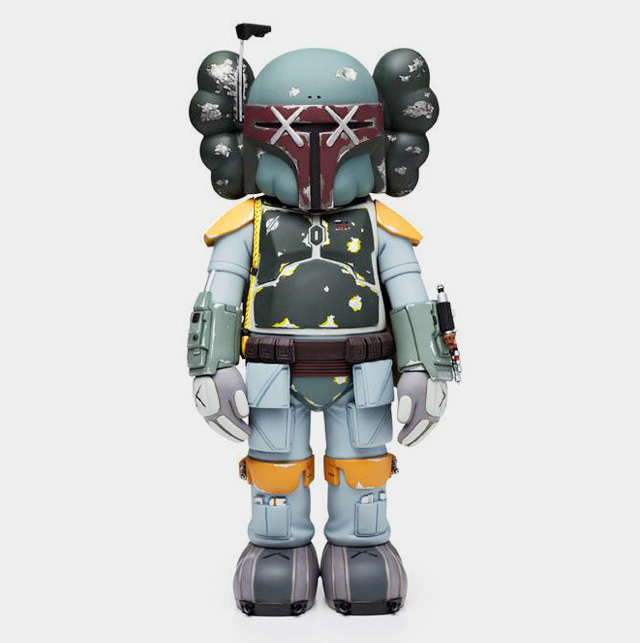 Vinyl Boba Fett Figure by KAWS