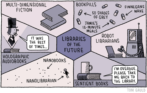 Libraries of the Future by Tom Gauld