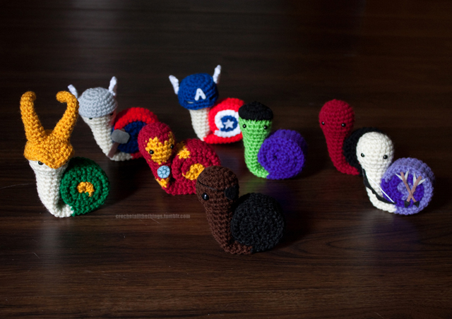 Avengers Amigurumi Snails