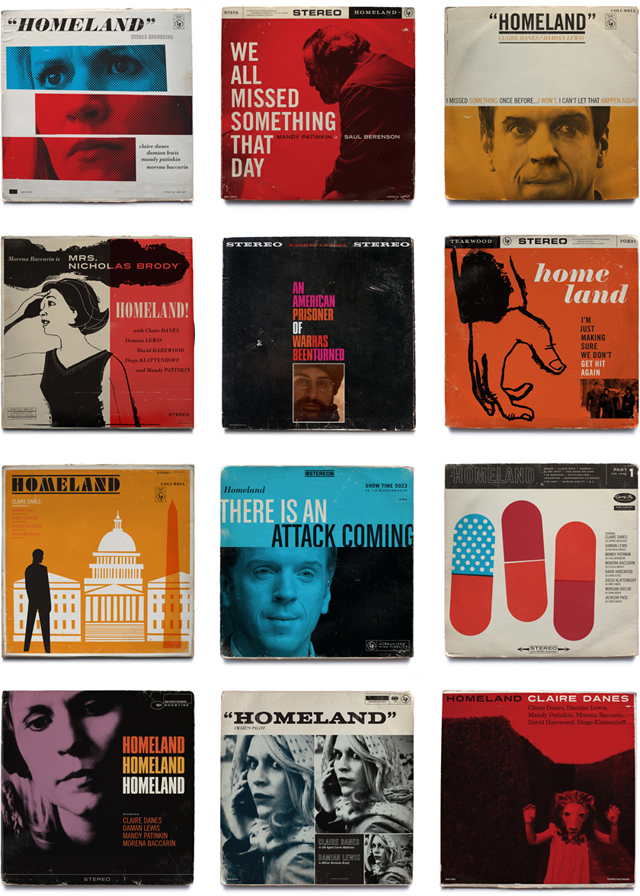 Homeland Vintage Jazz Record Covers by Ty Mattson