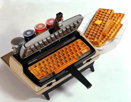 Typewritter Waffle Iron