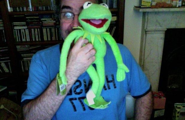 Danny Baker and Kermit
