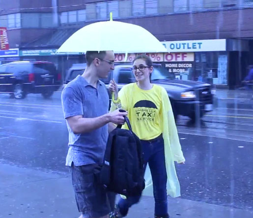 Umbrella Taxi Service by Improv in Toronto
