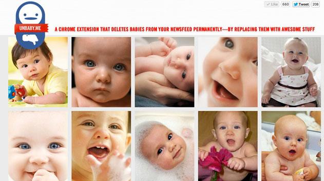 Unbaby.me Deletes Babies from Facebook Newsfeed