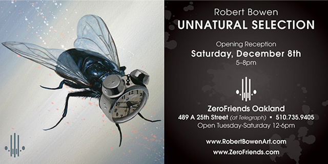 Unnatural Selection, Solo Art Show by Robert Bowen at Zerofriends