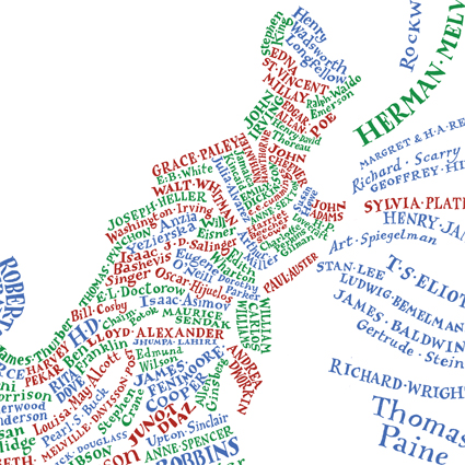 Literary maps by Geoff Sawers and Bridget Hannigan