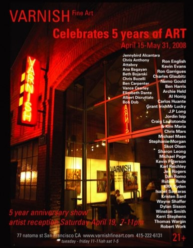 Varnish Fine Art 5th Anniversary Group Show