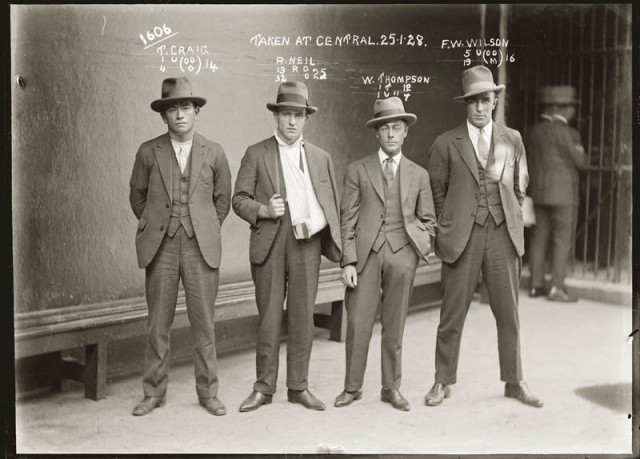 Mugshots of Dapper 1920s Australian Criminals