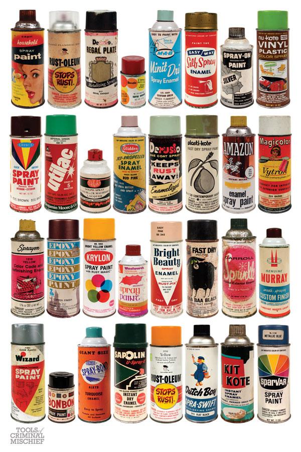 tools of criminal mischief the cans vintage spraypaint. Black Bedroom Furniture Sets. Home Design Ideas
